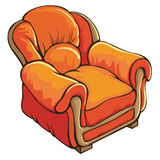Armchair. Single colorful armchair on white Stock Photo