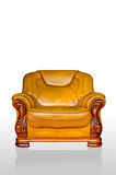 Armchair sofa brown classical style. Armchair brown genuine leather classical style sofa Royalty Free Stock Photography