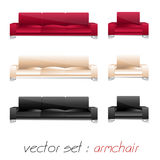 Armchair, sofa set Stock Images