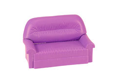 Armchair-sofa. A toy Royalty Free Stock Photos
