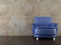 Armchair to face a blank Wall Stock Photos
