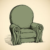 Armchair. Vector drawing Royalty Free Stock Image