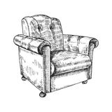 Armchair vector hand drawing Stock Photography