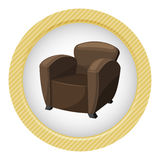 Armchair vector illustration Royalty Free Stock Image