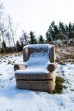 Armchair in the winter Stock Photography