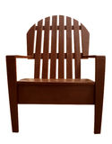 Armchair wooden Stock Images