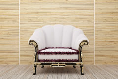 Armchair in the wooden room Royalty Free Stock Photo