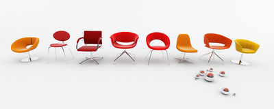 Armchairs Stock Photo