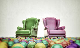 Armchairs Stock Photography