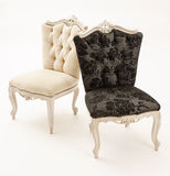 Armchairs. Luxury black and white armchairs over white background Royalty Free Stock Image