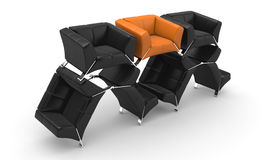Armchairs Royalty Free Stock Images