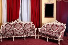 Armchairs. Two modern armchairs in the room Royalty Free Stock Photography