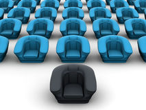 Armchairs. 3d Royalty Free Stock Image