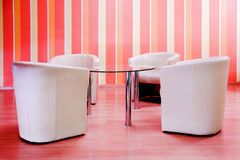 Armchairs in cafe Stock Photography