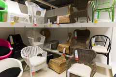 Armchairs in a furniture store  Stock Photo