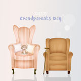 Armchairs grandparents. Illustration of the armchairs grandparents Stock Images