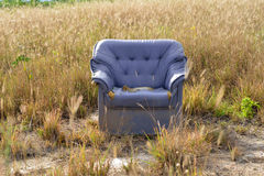 Armchairs in grass fields Stock Image