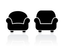 Armchairs icons set. Vector illustration Stock Images