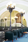 Armchairs and lanterns in Commerce and Industrial chamber of Russia Stock Images
