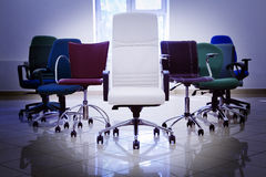 Armchairs leadership Stock Photos