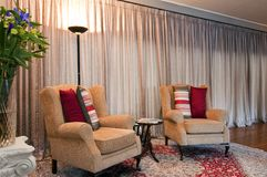 Armchairs in a Luxurious Lodge Royalty Free Stock Images