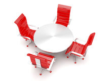 Armchairs and round table Stock Photo