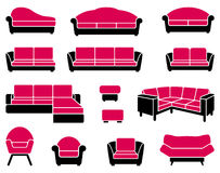 Armchairs and sofas Royalty Free Stock Photos