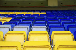 Armchairs  at the stadium Stock Photos