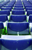 Armchairs  at the stadium. Row seats to the stage Royalty Free Stock Image
