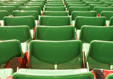 Armchairs  at the stadium. Row seats to the stage Royalty Free Stock Photo