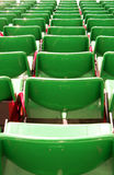 Armchairs  at the stadium. Row seats to the stage Royalty Free Stock Photos