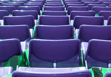 Armchairs  at the stadium. Row seats to the stage Royalty Free Stock Images