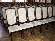 Armchairs for students in the auditorium of the University  Chernivtsi. Western Ukraine Royalty Free Stock Images