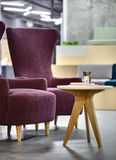 Armchairs with table royalty free stock photo