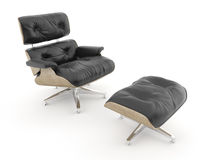 Armchais isolated on white model charles eames royalty free stock photo