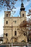 Armeński kościół katolicki w Dumbraveni, Rumunia Fotografia Stock