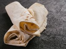 Armeński płaski chlebowy lavash obrazy royalty free