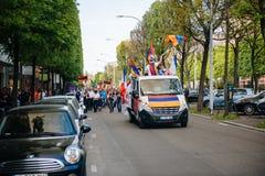 Armeńskiego ludobójstwa wspominania 100th marsz w Francja Zdjęcia Royalty Free