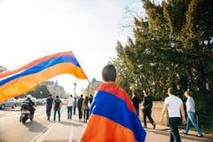 Armeńskiego ludobójstwa wspominania 100th marsz w Francja Obraz Royalty Free