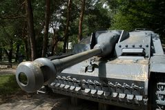 Arme à feu autopropulsée allemande StuG III Images libres de droits