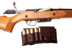 Arme à feu avec des balles Photographie stock libre de droits