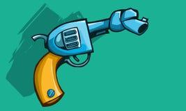 Arme à feu avec le baril attaché Image stock