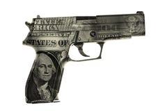 Arme à feu d'argent liquide photo stock