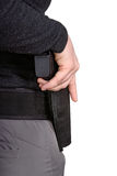 Arme à feu dans un étui photographie stock libre de droits