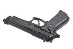 Arme à feu de Beretta M9 d'isolement sur le blanc Photographie stock libre de droits