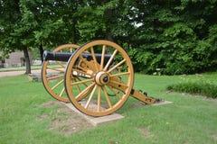 Arme à feu de boulet de canon de la guerre civile Photo stock