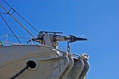 Arme à feu de chasse de baleine chargée avec un harpon Photos libres de droits