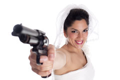 Arme à feu de jeune mariée Image stock