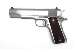 Arme à feu de Semi-autometic sur le fond blanc Photos stock