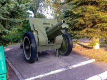 Arme à feu du musée de l'équipement militaire images stock